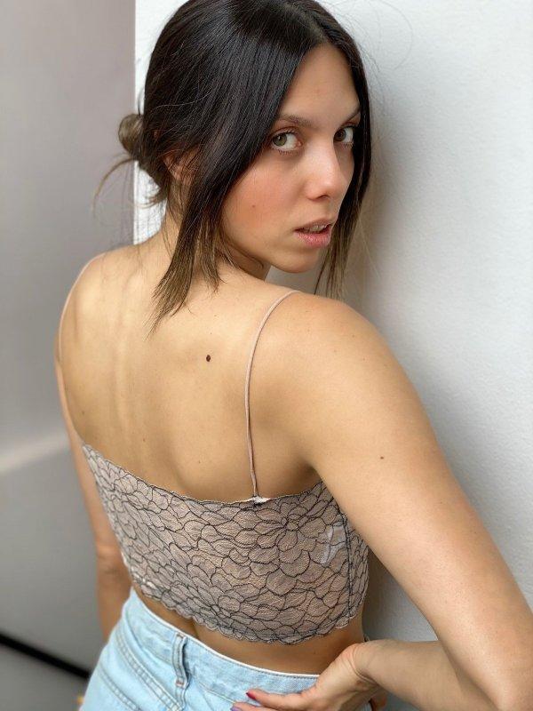 Top Faixa de Renda Nude com Preto-2