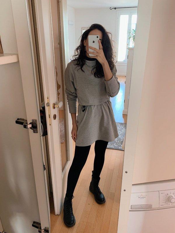 Vestido Moletom Cinza