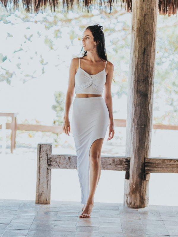 Shorts Saia Assimétrico Branco
