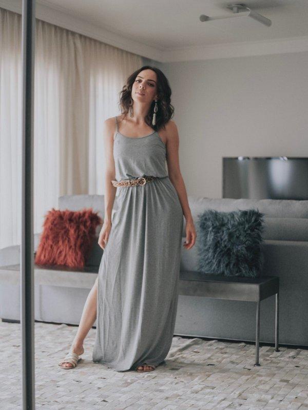 Vestido Alice Mescla Longo