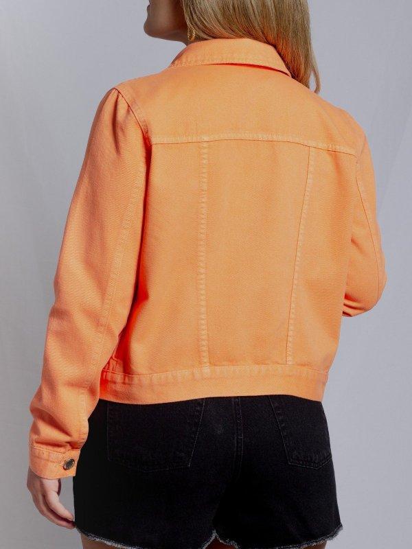 Jaqueta Jeans Laranja