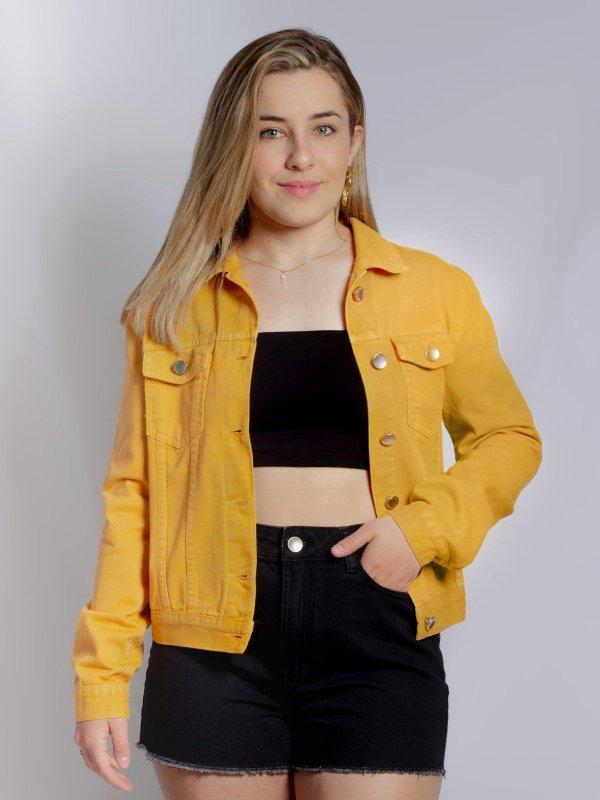 Jaqueta Jeans Mostarda