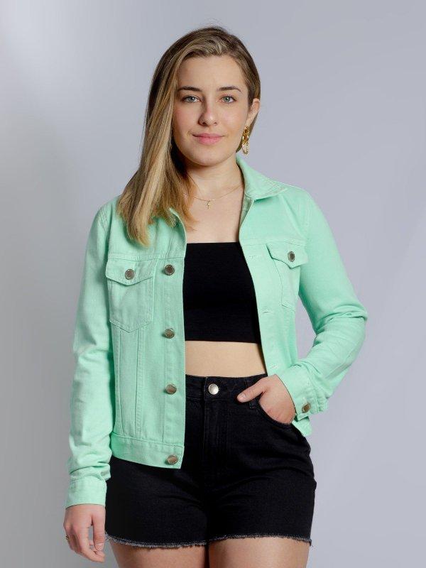 Jaqueta Jeans Menta