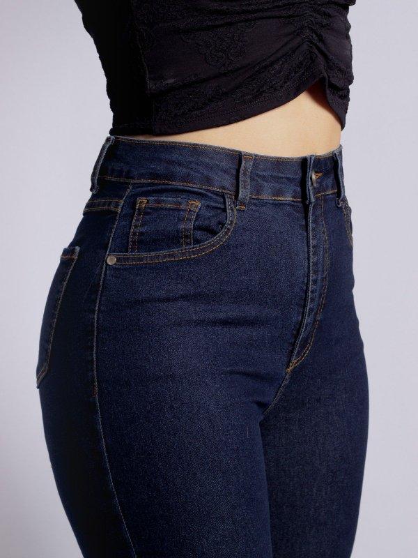 Calça Jeans Flare Escura-3