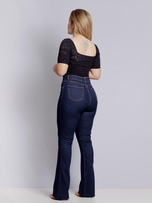 Calça Jeans Flare Escura-1