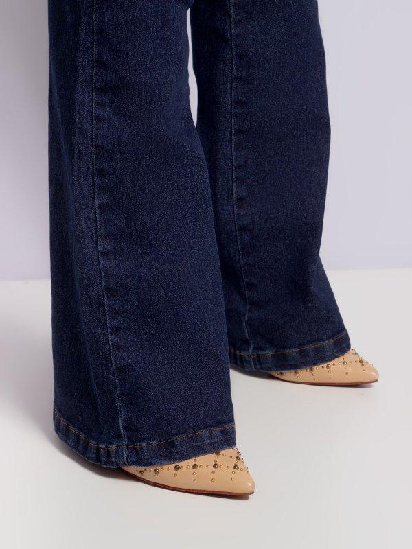 Calça Jeans Flare Escura-2