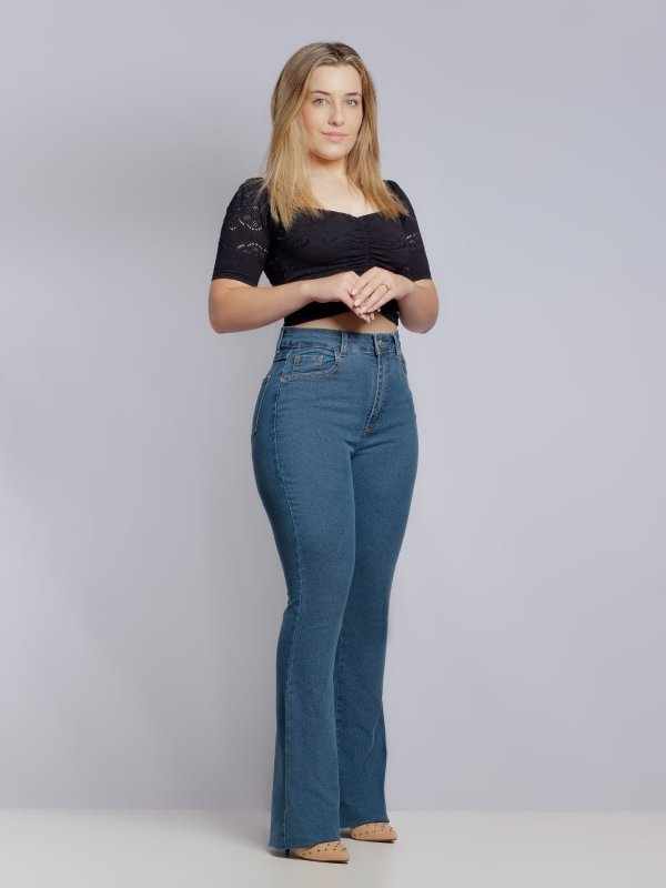 Calça Jeans Flare Média