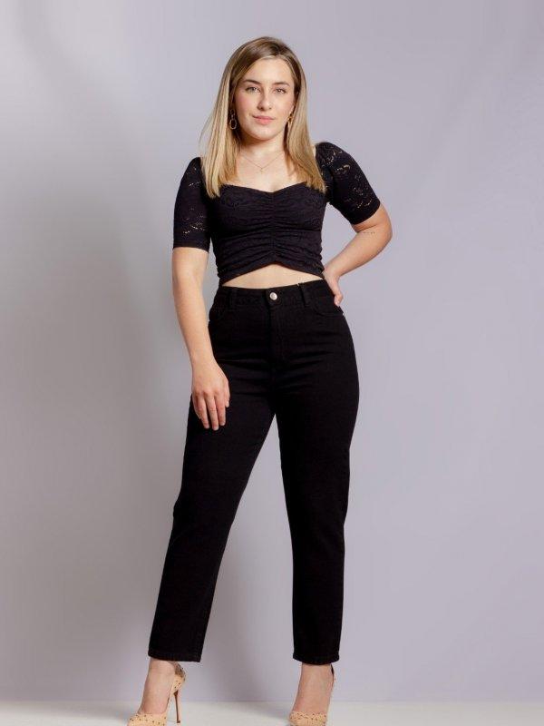 Calça Mom Jeans Black