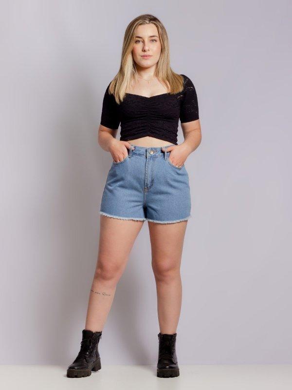 Shorts Jeans Julia Escuro