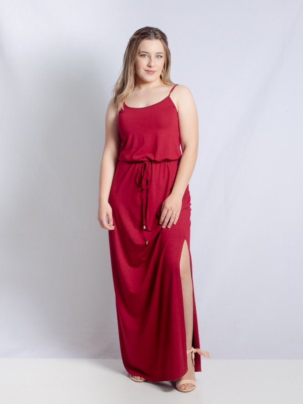 Vestido Alice Marsala Longo
