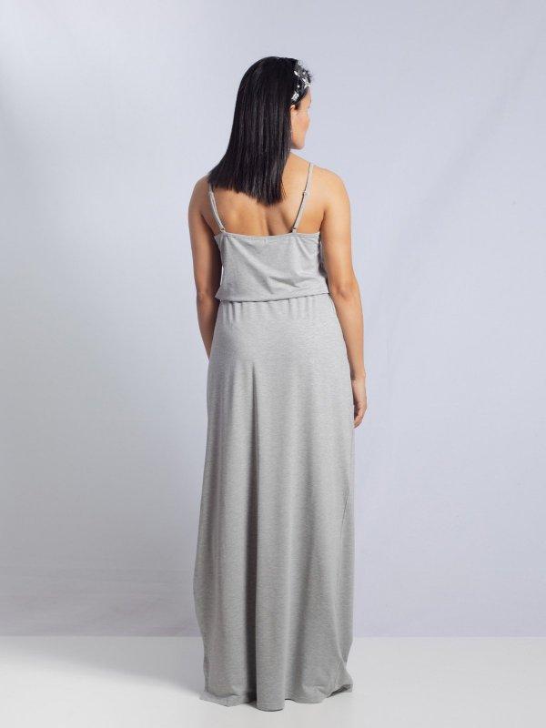 Vestido Alice Mescla Longo-3