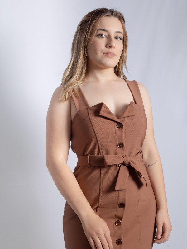 Vestido Serena Marrom