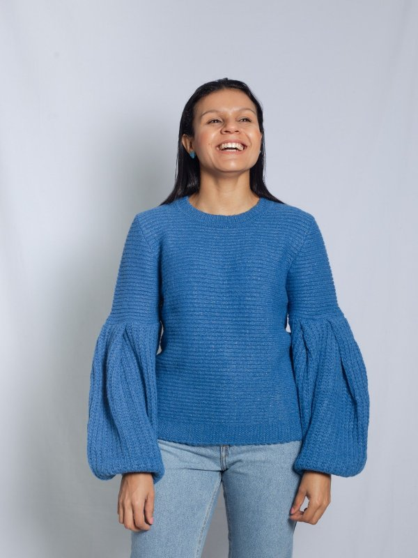 Tricô Catarina Azul