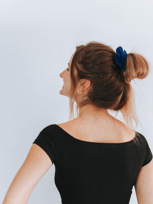 Scrunchie  Azul Profundo