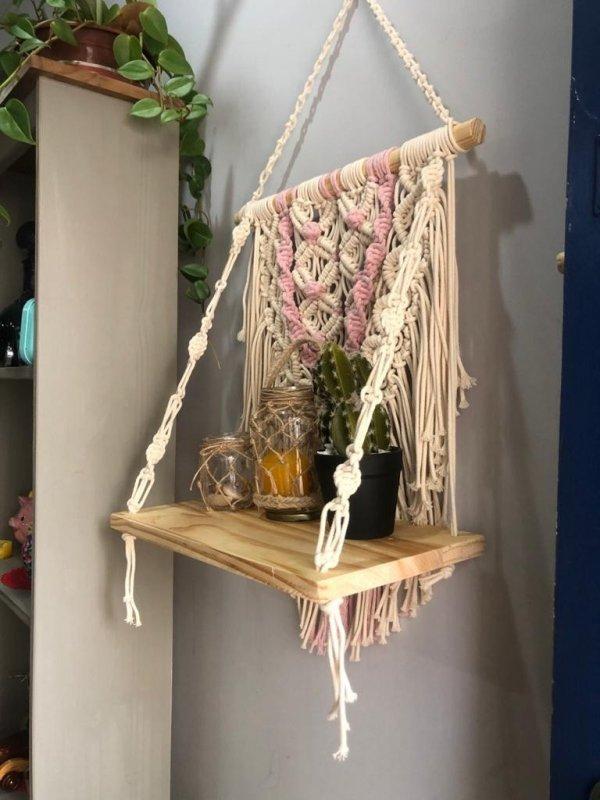 Porta Vasos e Objetos Macrame