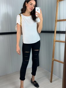 Calça Mom Jeans Cinza-1