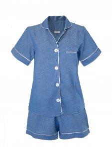 Pijama Curto Azul-1