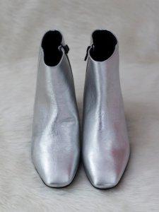 Bota Metalizada Prata -7