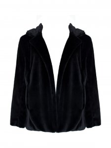Casaco Fake Fur Preto -2