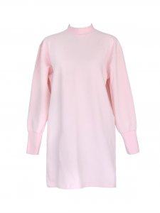 Vestido Moletom Rosa -3