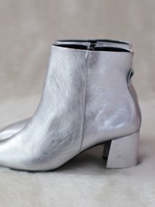 Bota Metalizada Prata -6