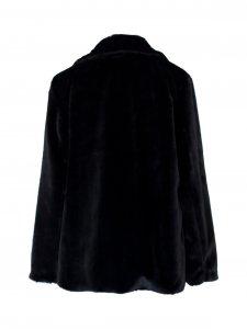 Casaco Fake Fur Preto -3