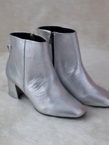 Bota Metalizada Prata -5