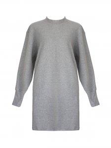Vestido Moletom Cinza -2