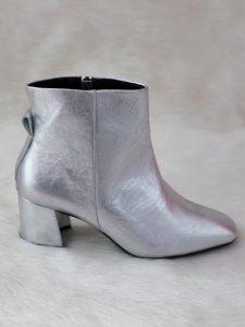 Bota Metalizada Prata -8
