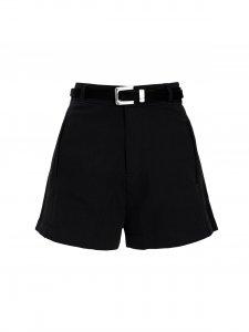 Shorts Alfaiataria Preto + cinto de mimo-1