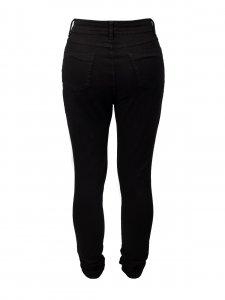 Calça  Nicole Preta Giletada Jeans-4