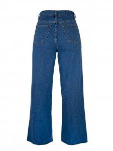 Calça Jeans Pantalona Tradicional Azul Médio-3