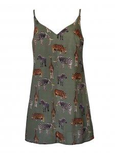 Vestido Isadora Estampa Bichos  + cinto de mimo -2