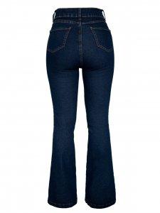 Calça Jeans Flare Escura-7