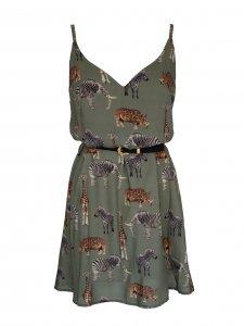 Vestido Isadora Estampa Bichos  + cinto de mimo -4