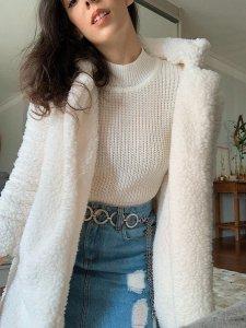 Casaco Carneirinho Branco-3