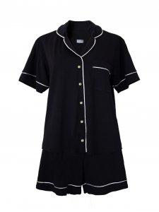 Pijama Curto Preto-1