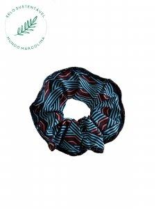 Scrunchie Azul Geométrico -1