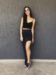 Shorts Saia Assimétrico Preto-1