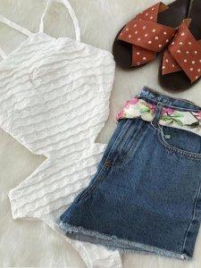 Shorts Jeans Julia Escuro -4