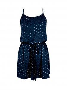 Vestido Alice Poá Azul-1