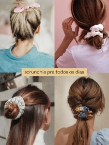 Scrunchie Preto com Detalhes-2