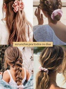 Scrunchie Amarelo Flores-3