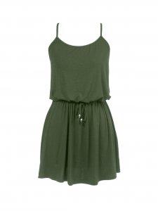 Blusa Couro Peplum Verde -1
