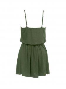 Blusa Couro Peplum Verde -2