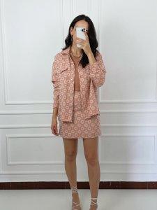 Camisa Alfaiataria Margaridas Laranja-4
