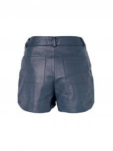Shorts Alfaiataria Couro Azul-2