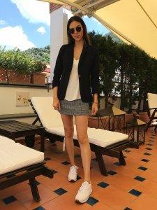 Shorts Saia Lívia Xadrez -3