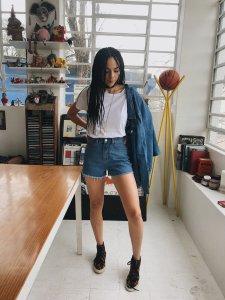 Shorts Jeans Julia Escuro -6