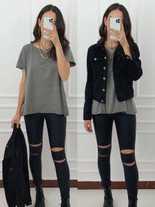 Jaqueta Jeans Preta-2